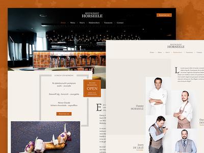 Restaurant Horseele web ux ui design