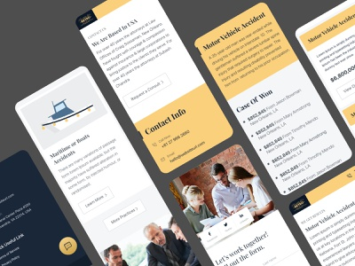 Lawyer agency landing page typography yellow mobile application mobile app design mobile app responsive website design responsive website responsive design responsive landing interface minimal website lawyer website law firm law lawyers lawyer