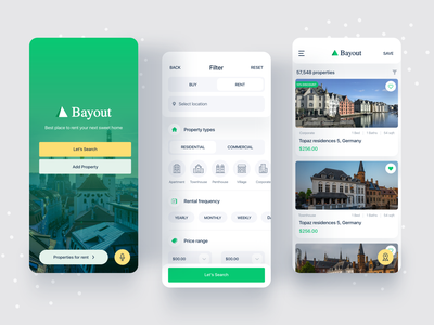 App for rent apartment house rent house minimal ux ui real estate app real estate agency real estate property app property buy sell buy now app rent place home filter booking apartment