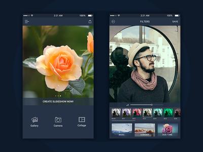 Onboarding Screen- Photo Editting App