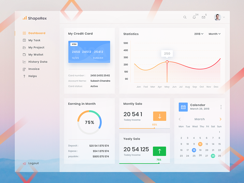 Freebie Dashboard Design Desh Free Project Management Admin Template Psd