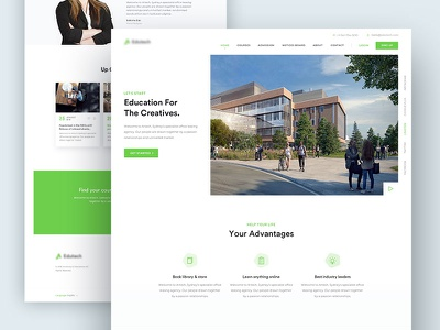 Education Home Page education landing page product design education home page education homepage ux ui website homepage landing landing page job landing education