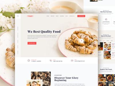 Restaurant Home Page Design
