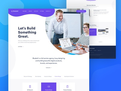 Home Page Design For Digital Agency digital interface agency tech company digital agency web website ux ui landing landing page homepage
