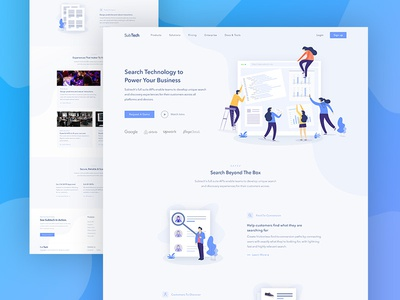 SubTech- Homepage digital agency minimal agency onepage isometric illustration homepage webdesign website home page landing page landing