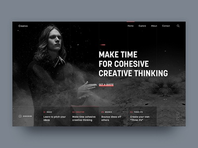 Creative Header Exploration blog homepage web design landing web photography inspiration ux ui exploration header creative