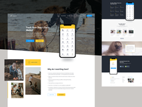Dog Tracking & Reporting System App Landing Page