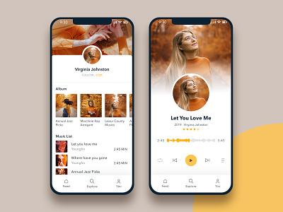 Music Streaming App mobile app apps design entertainment app subash ios app design android app design apps screen music player streaming app music album music app music