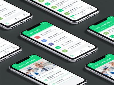 Health & Doctor Consultations App ios app design android app subash app concept medical center medical design medical app health center doctor app health health care health app