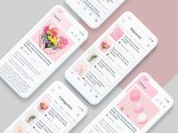 Mobile Blog App Design