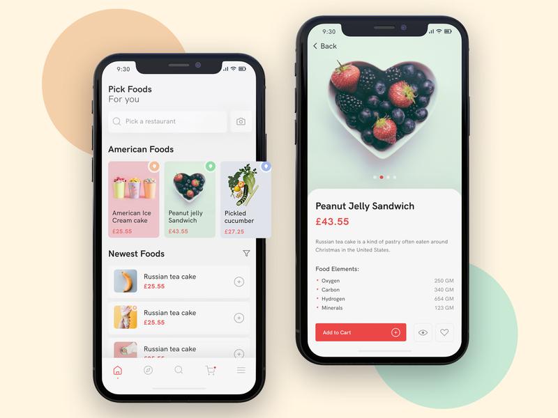 Food Delivery App mobile application design cooking app mobile app ios app food delivery app ecommerce app food app restaurant app restaurant app ux ui
