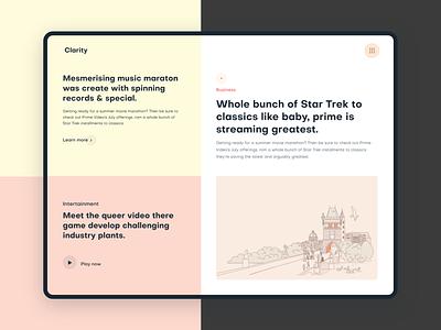 Creative Header Exploration typography product design website design blog post blog article page landing page vector illustration web design web landing