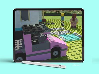 Diseño 3d Temática Lego graphic design 3d