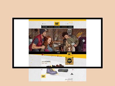 Website para Caterpillar web design ui