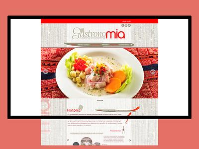 Website para Restaurante peruano web design ui