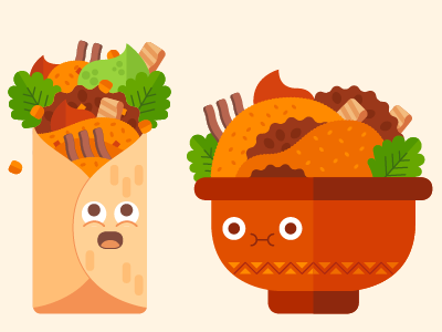 Burritos  cute vector characters editorial burritos