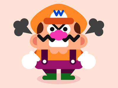 Wario cute character game retro mario wario