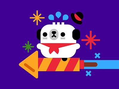 Happy New Year vector cute momo