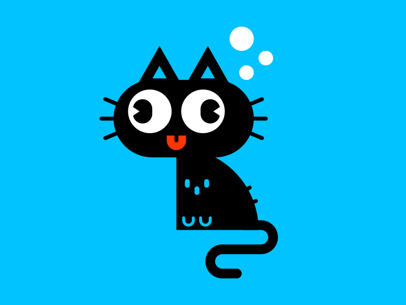 Cat 2 character vector cute cat