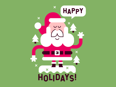 Happy Holidays! vector cute holidays christmas