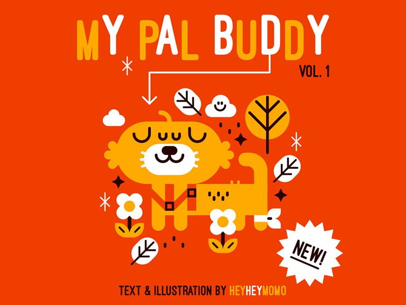 My pal Buddy cover book vector dog cute buddy