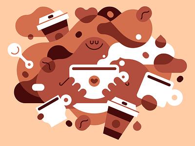 Coffee Lovers! illustration teeshirt tees shirts shirt design coffee