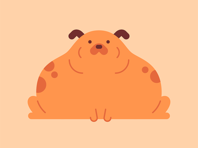 Big boys are beautiful too dog character cute vector