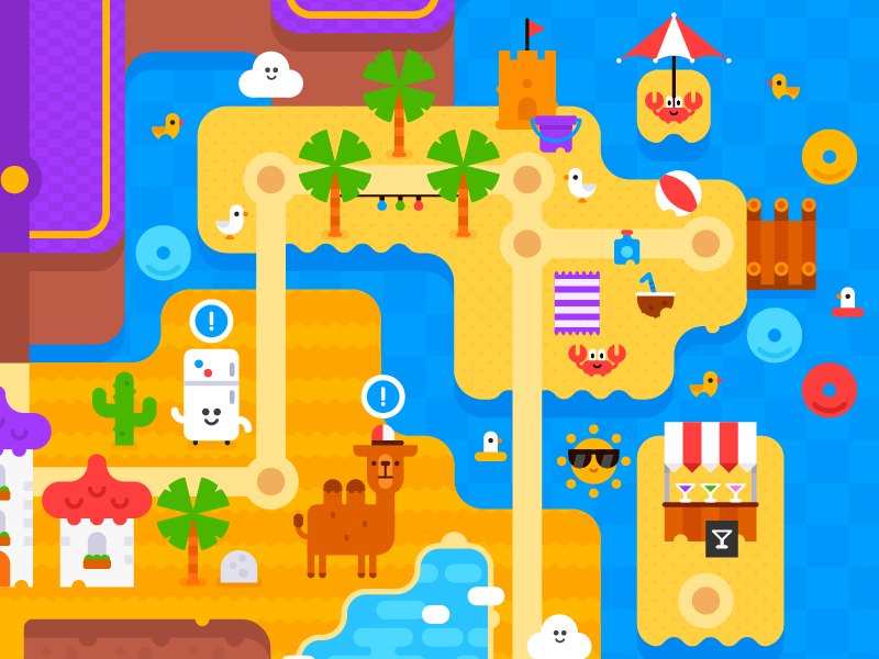 Momo Land #wip 2: Desert and Island game games map cute vector