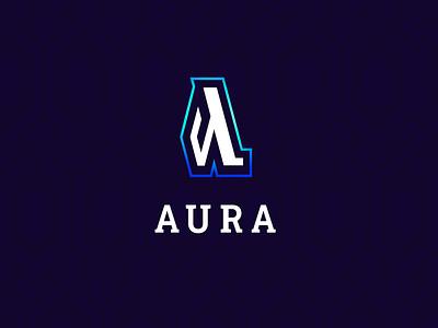 AURA magic videogames branding logo