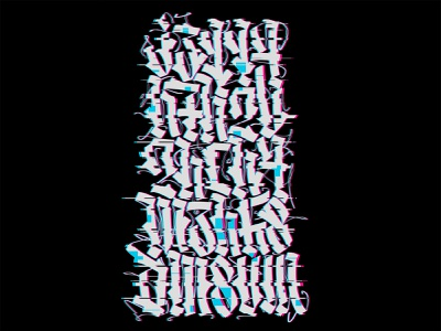 Press any key handwritten illustration typography gothic lettering calligraphy calligraffiti