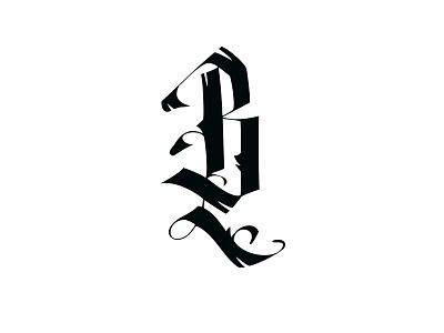 ~B~ lettering handwritten gothic calligraphy calligraffiti