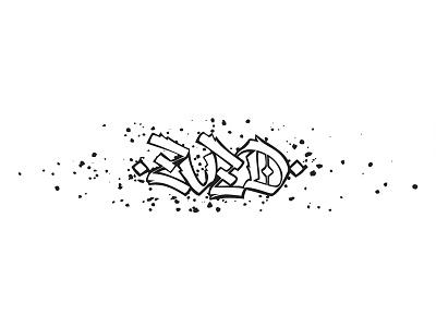 ZVZD lettering handwritten gothic calligraphy calligraffiti