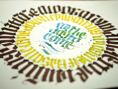 Day to come lettering handwritten gothic calligraphy calligraffiti