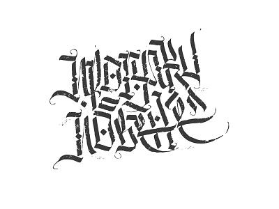 Прогулки по Вене lettering handwritten gothic cyrillic calligraphy calligraffiti