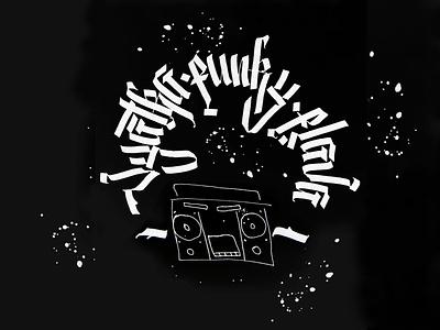 Vyatka Funky Flava typography design illustration cyrillic lettering handwritten gothic calligraphy calligraffiti