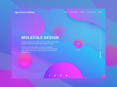 Molecule Design company gradient color brand molecule design