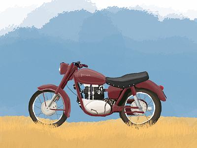 Junak graphic digital adobe illustrator illustration drawing szczecin motorcycle