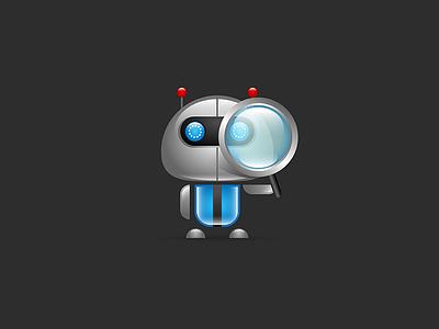Domain Search Bot logo design illustration robot