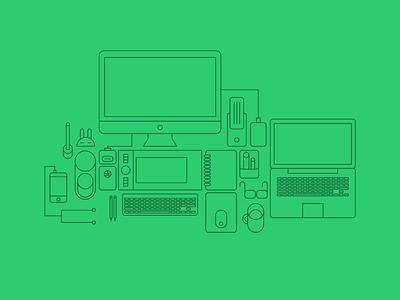 Workspace workspace line illustration design icon