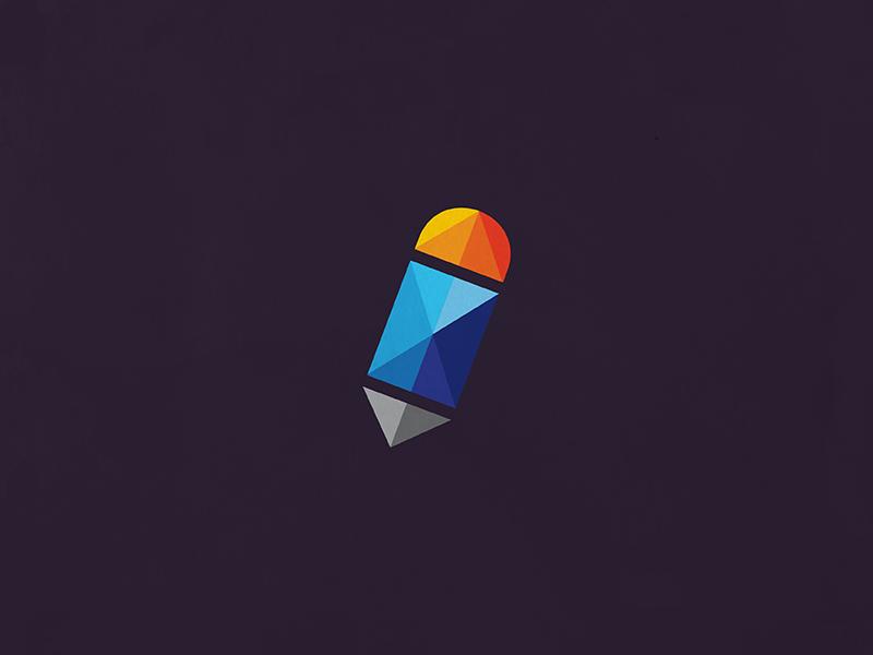 Dev (w.i.p) logo design branding icon pencil developer