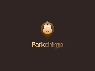Parkchimp logo icon illustration character web chimp