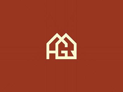 HGR | HomerGroupRealty logo design branding home realty