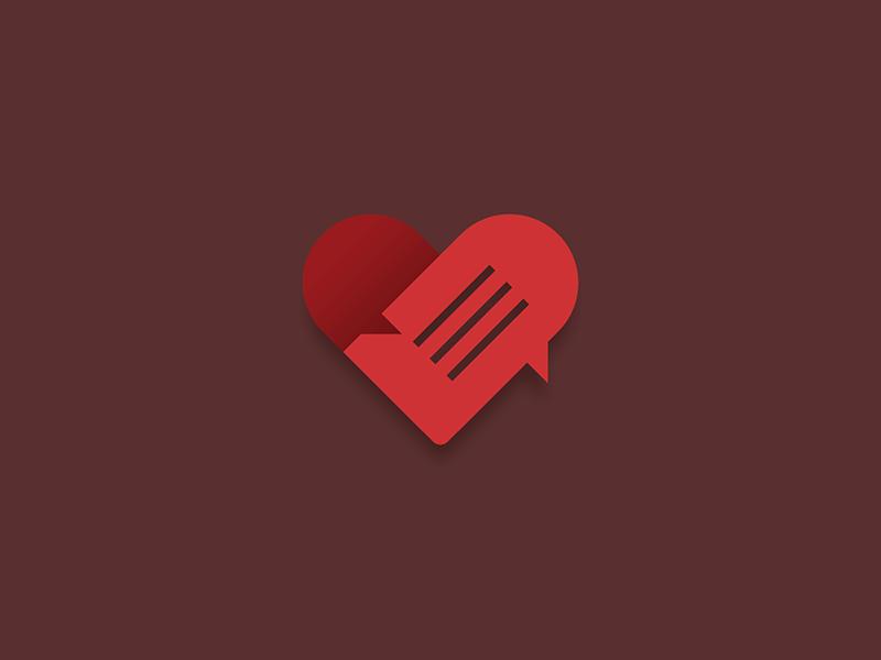 Relationship Advice logo icon love heart relationship advice