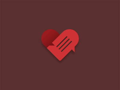 Relationship Advice logo icon love heart relationship advice