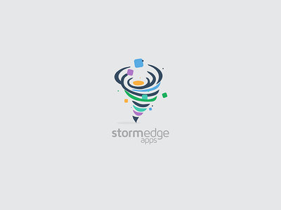 Storm Edge Apps logo design logo design apps storm