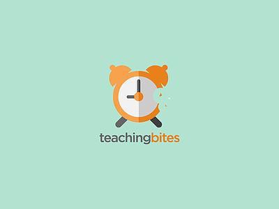 Teaching Bites  logo design icon flat