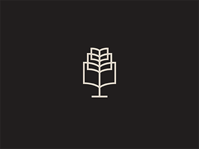 Educate tree book branding icon logo