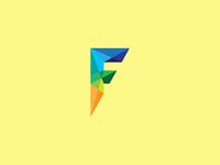 F branding design logo letterform