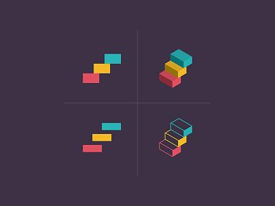 Stepstack stack step branding logo design design logo