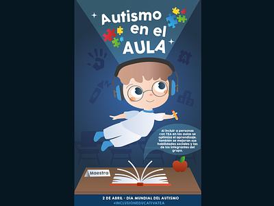 Yadira Morales illustration cartel autismo graphic design